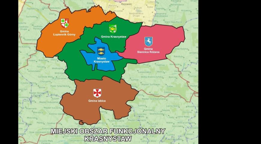 mapa z granicami gmin