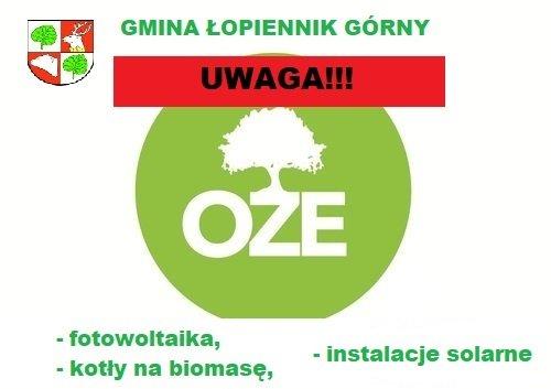 logo graficzne z opisami programów OZE