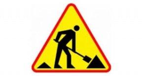 znak: roboty drogowe