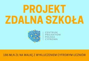 """zdjęcie z logo """"projekt zdalna szkoła"""""""
