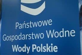 logo z napisem PAŃSTWOWE GOSPODARSTWO WODNE WODY POLSKIE