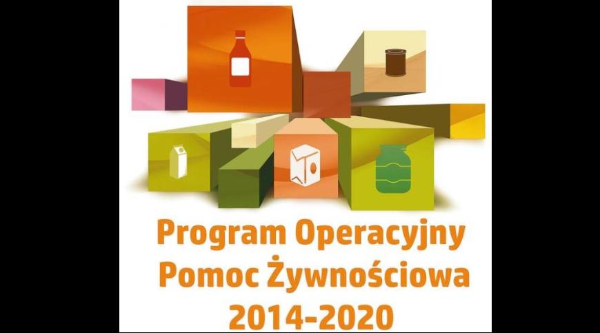 Logo z napisem Program Operacyjny Pomoc Żywnościowa 2014-2020