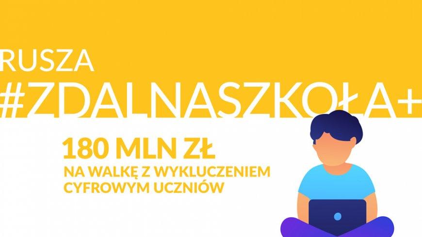 """Gmina Łopiennik Górny bierze udział w projekcie """"Zdalna Szkoła+"""""""