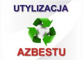 grafika z napisem utylizacja azbestu