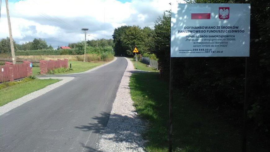 Zakończono przebudowę drogi gminnej w Borowicy